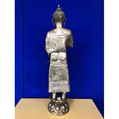 31 - Brass standing Buddha H 80...