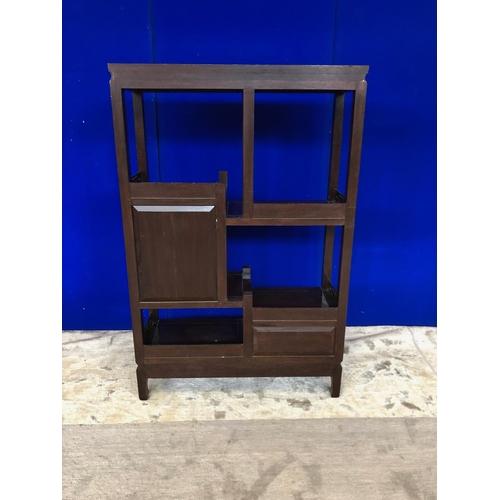42 - Asian design asymmetrical side cabinet W 80 H 122 D 30...