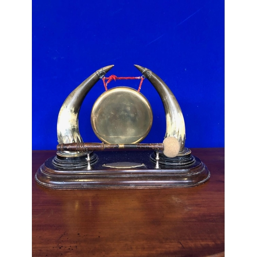 50 - 19th Century gong, complete with striker W 45 H 30 D 20...