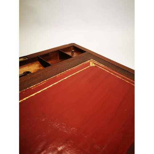 14 - Good quality 19th C. rosewood and brass writing box with fitted interior {16 cm H x 36 cm W x 24 cm ...