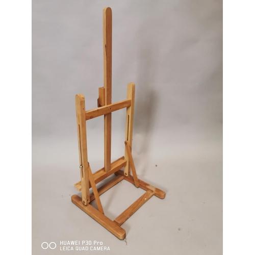 37 - Pine table artist easel {78 cm H x 32 cm W}.