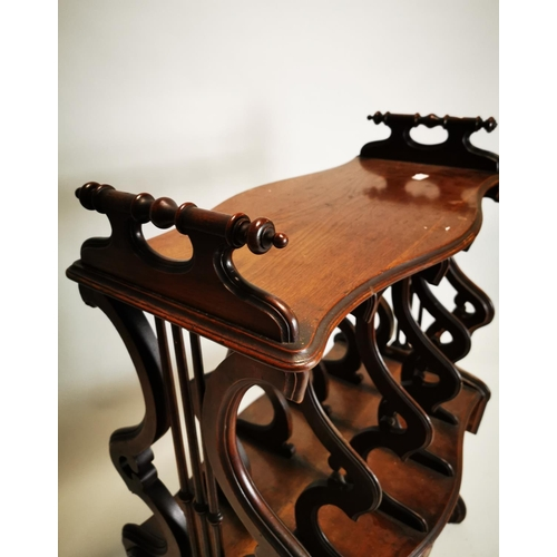 42 - 19th C. mahogany music stand {97 cm H x 69 cm W}.