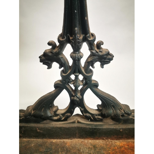6 - Decorative cast iron stick stand {75 cm H x 50 cm W x 22 cm D}.