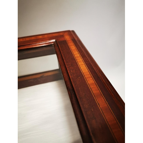 60 - Good quality Edwardian inlaid mahogany table top display cabinet on square tapered legs {72 cm H x 6...