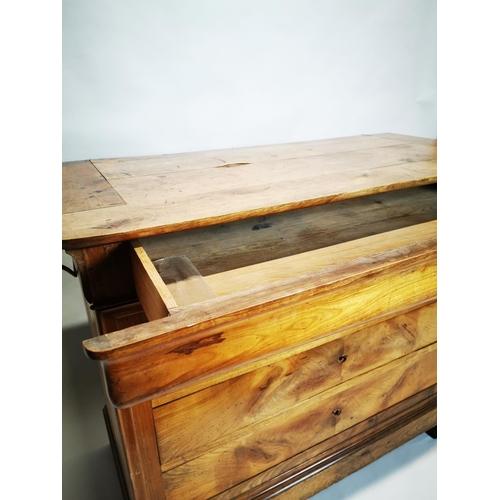 9 - 19th C. cherry wood chest of drawers {99 cm H x 121 cm W x 56 cm D}.