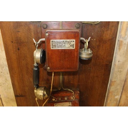 3 - Vintage telephone operator's exchange. {150 cm H x 50 cm W x 10 cm D}...