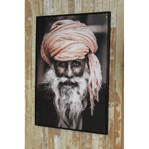 39 - Picture of Indian Gentleman with turban. {144 cm h x 104 cm W}...
