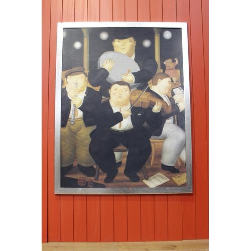 40 - Humorous Irish Traditional Folk Band print - Beryl Cook. {161 cm H x 125 cm W}...