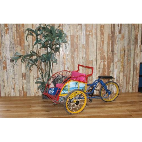 5 - Rare child's rickshaw bike. {82 cm H 160 cm W x 33 cm D}...