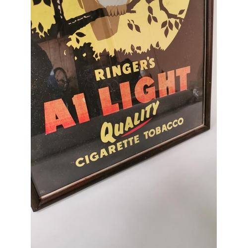 57 - Unusual Ringer's Cigarette Tobacco advertising print {74 cm H x 53 cm W}....