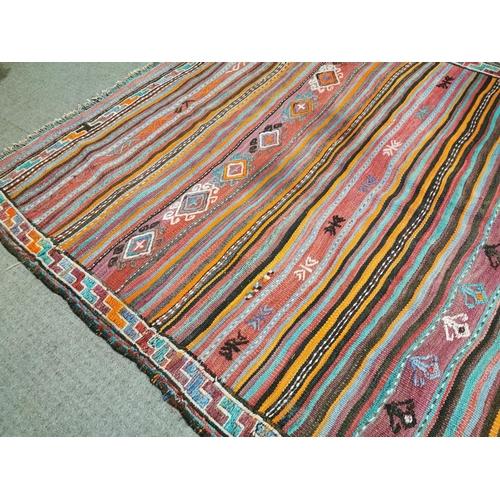 41 - Persian carpet runner { 336cm L X 131cm W }.
