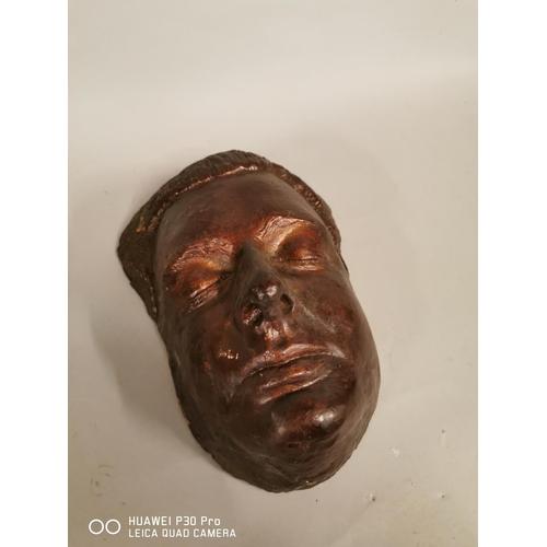 24 - Early 20th C. death mask {25 cm H x 18 cm W}.