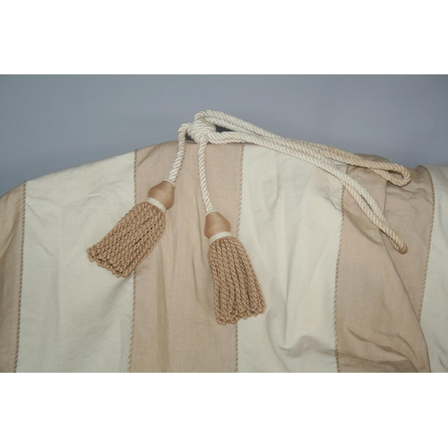 27 - Two pairs of quality lined curtains complete with tie backs 240 W x 260 H
