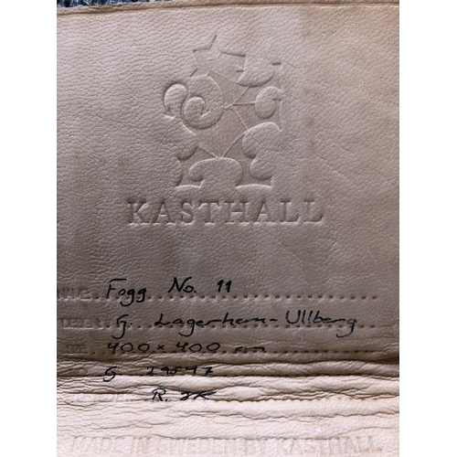 32 - Kashtall, Fogg 11 very fine Swedish made high pile centre rug  550 x 358