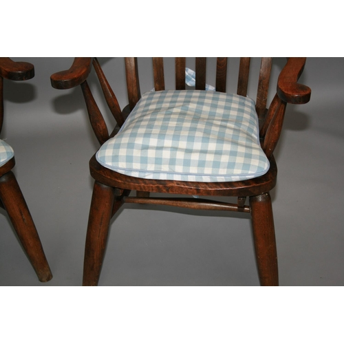 37 - Pair of high back fork design kitchen chairs 65 W x 115 H x 60 D
