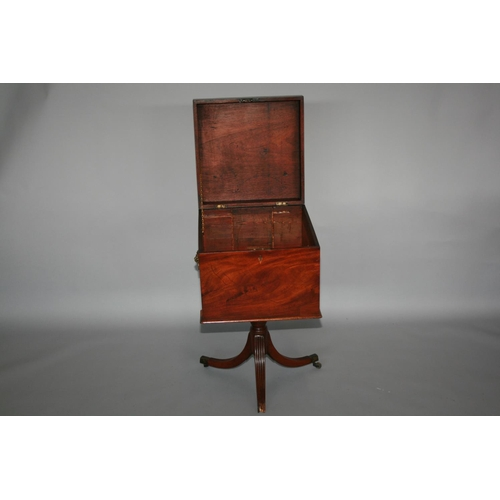 40 - Regency mahogany hat and coat stand (40W x 165H) and regency mahogany wine cooler, as found.