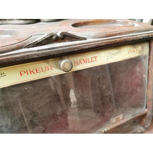 14 - Mahogany Hamlet Cigars advertising cabinet {30 cm H x 39 cm W x 22 cm D}.