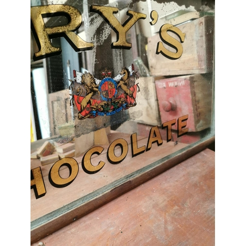 2 - Rare early 20th C. Fry's Chocolate advertising mirror in original mahogany frame {39 cm H x 71 cm W}...