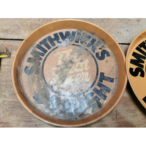 22 - Pair of Smithwick's Draught - The Great Beer advertising drinks trays {30 cm Dia.}.