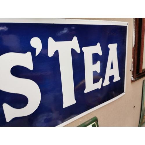 36 - Lyon's Tea enamel advertising sign {31 cm H x 91 cm W}.