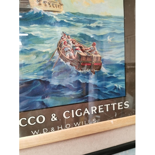 4 - Will's Capstan Navy Cut tobacco and cigarettes advertising showcard {54 cm H x 42 cm W}.