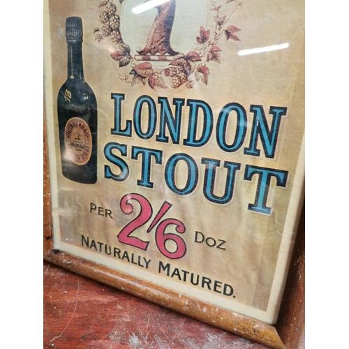 42 - Whitbread's London Stout framed advertising print {42 cm H x 32 cm W}.