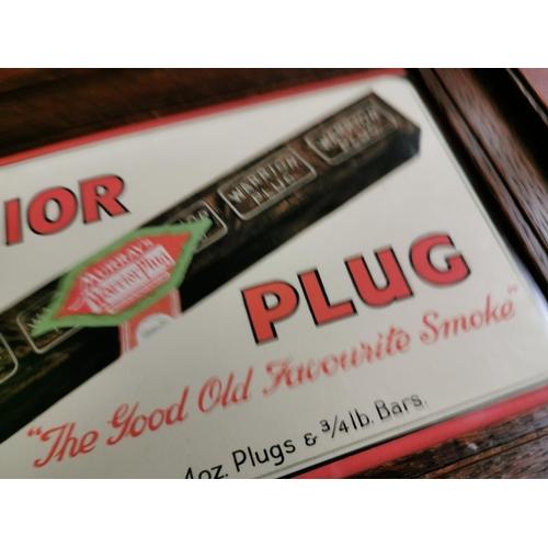 49 - Warrior Plug tobacco framed advertising print {22 cm H x 34 cm W}.