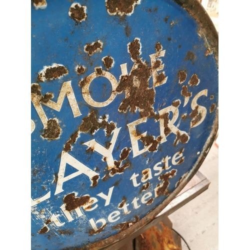 58 - Smoke Players cigarettes enamel advertising sign.