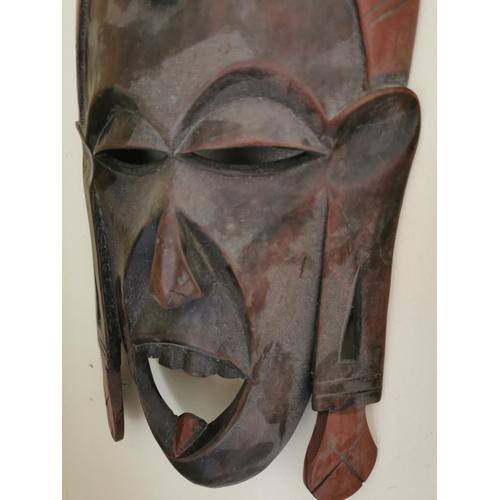 20 - Polynesian face mask { 36cm H X 18cm W }.