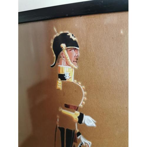 47 - 19th. C. watercolour Namuis  - The 18th. Royal Irish Rufus { 35cm H X 26cm W }.