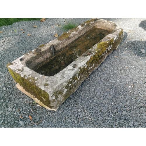 5 - 19th C. sandstone trough {24 cm H x 122 cm W x 43 cm D}.
