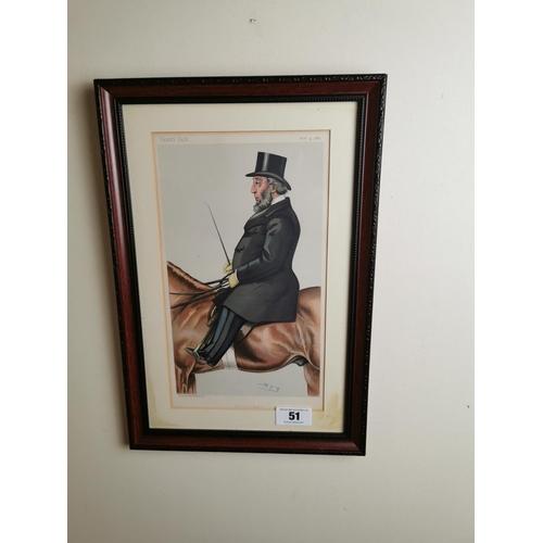 51 - 19th. C. Vanity Fair The Lord Mayor coloured print. { 45cm H X 31cm W }.