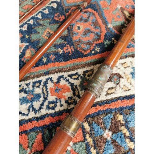 39 - Early 20th. C. three piece fishing rod  - D Duguid Aberdeen