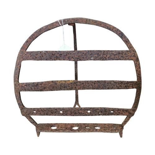 37 - 19th C. Bread iron/harden stand {39cm H x 38cm W}
