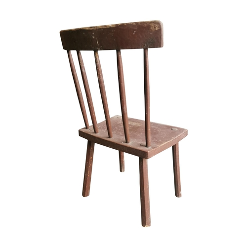 58 - 19th C. painted pine Antrim chair {79cm H x 45cm W x 44cm D}