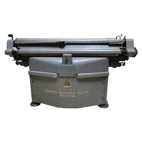 7 - 1950's imperial typewriter {30cm H x 53Cm W x 49cm D}
