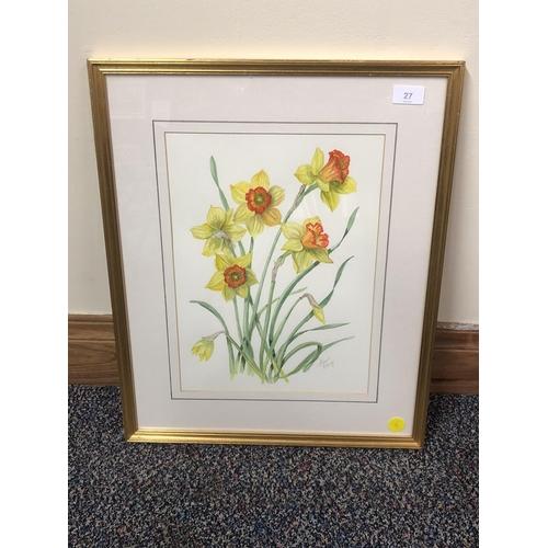 17 - Eleanor Panay print , Daffodils...