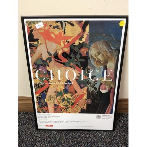 36 - Framed artist poster...