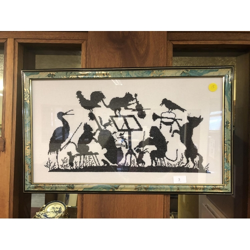 3 - Orchestra tapestry in frame...