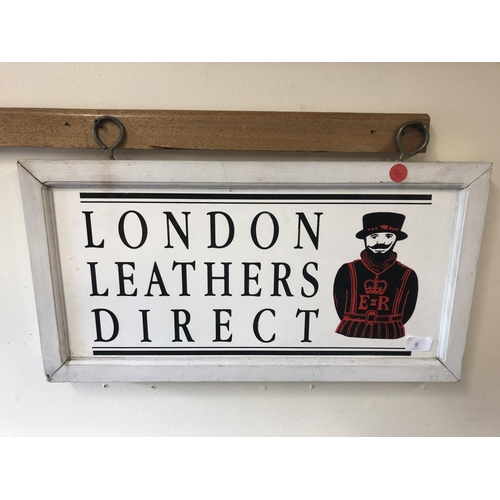8 - London leather swinging sign...
