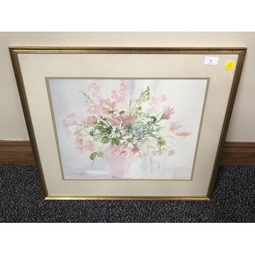 5 - Celia Russell, Flowers in Vase