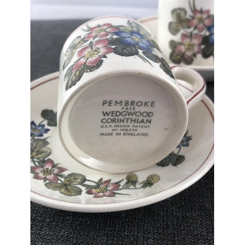 11 - Wedgewood coffee cup and saucer set Corinthian design...