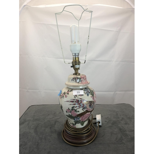 26 - floral table lamp base...