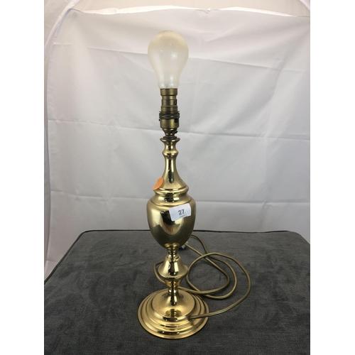 27 - brass lamp base...