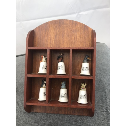 5 - box with collectable cat thimbles and selection of silver plate items...