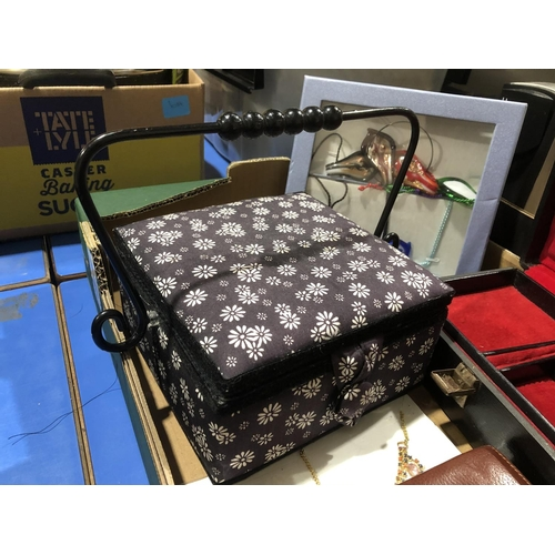 45 - DECORATIVE BOXES PLUS COSTUME JEWELLERY...