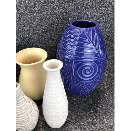 5 - ASSORTMENT OF  CERAMIC VASES...