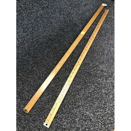 40 - Wooden metre stick and wooden yard stick...