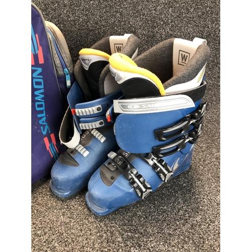 30 - Pair of Salomon Ski boots in carrying bag...