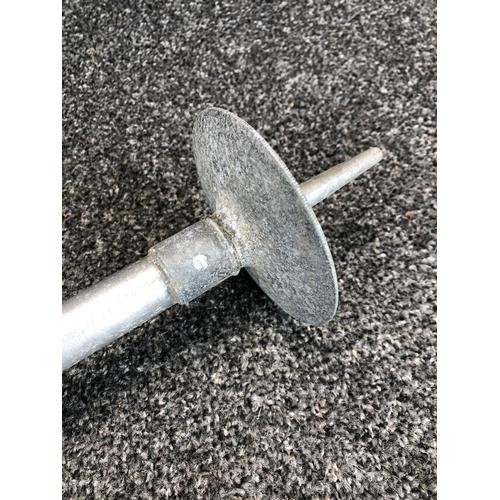 48 - Metal telescopic shooting stick with patent from W.Mills Ltd  Sunderland circa. 1920...
